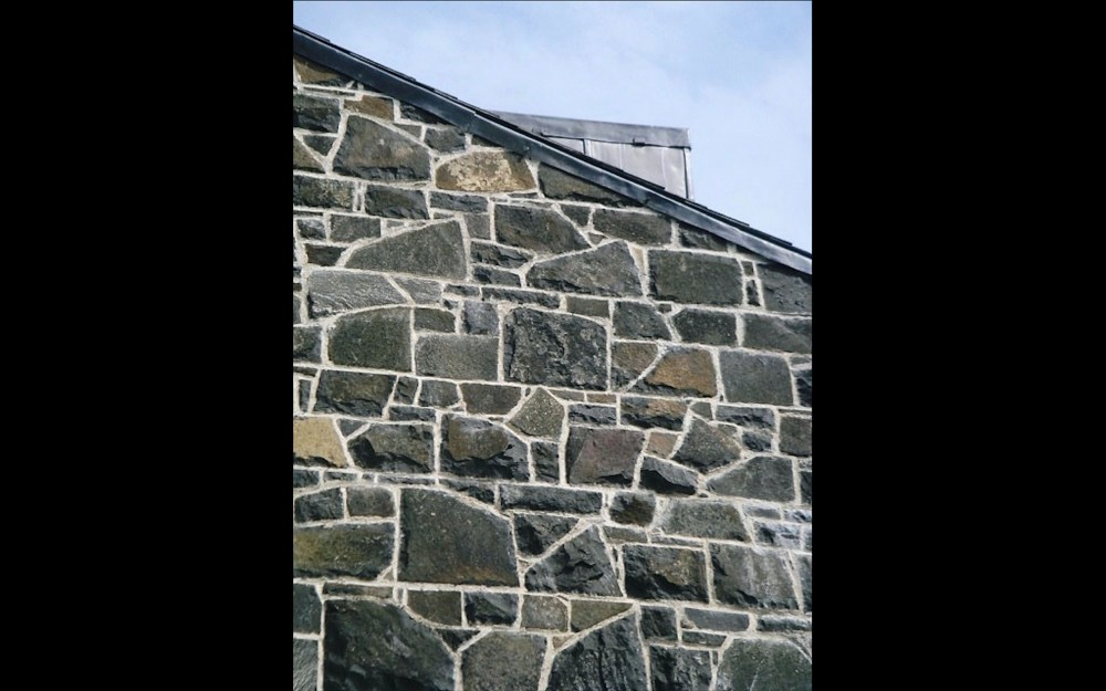 Basalt pointed with lime mortar