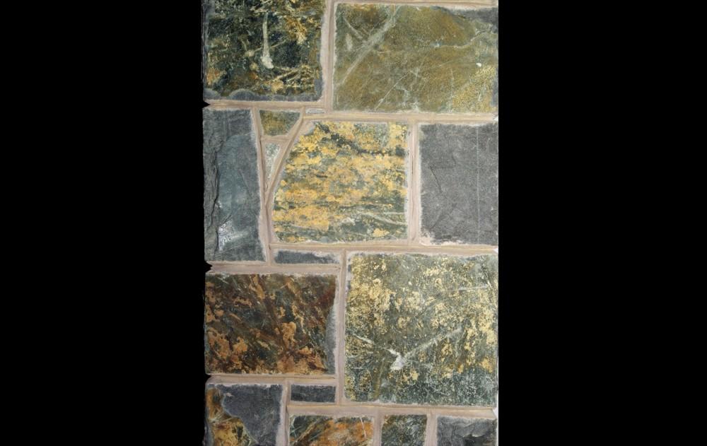 Multi coloured basalt