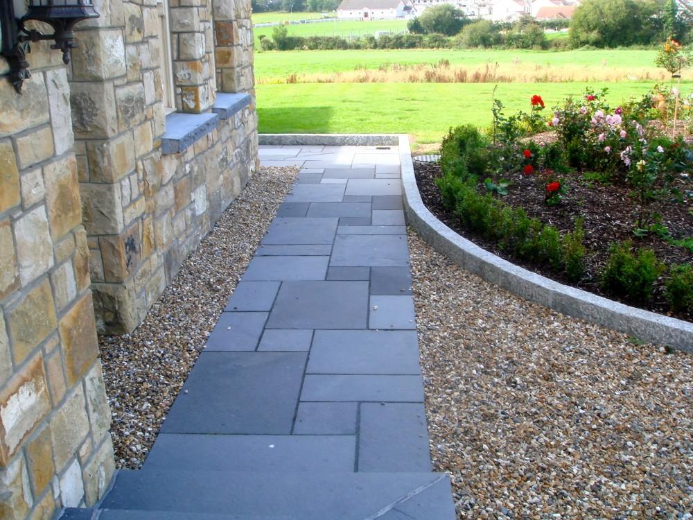 Indian limestone paving