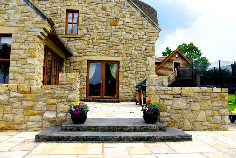 70mm black limestone steps