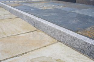 Silver Granite Kerbs Flamed 150 X 60