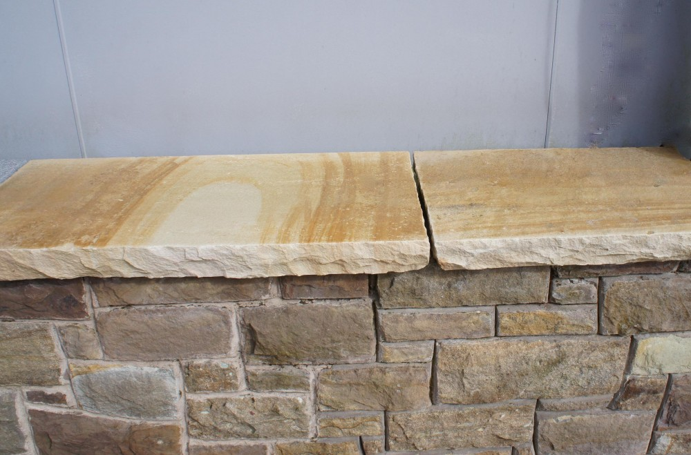 Rock Faced Sandstone Wall Coping Coolestone Stone