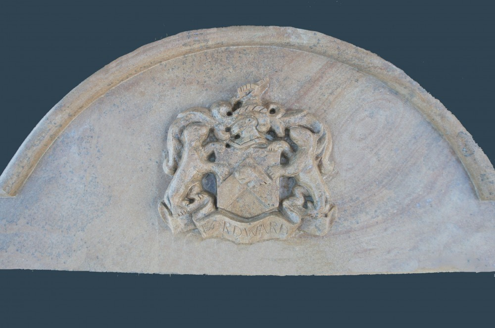 Family Crest Carved into Donegal Sandstone