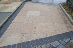 Gold Granite Paving Bush Hammered