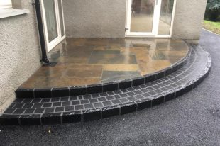 Risers Formed Using Black Limestone Kerbs
