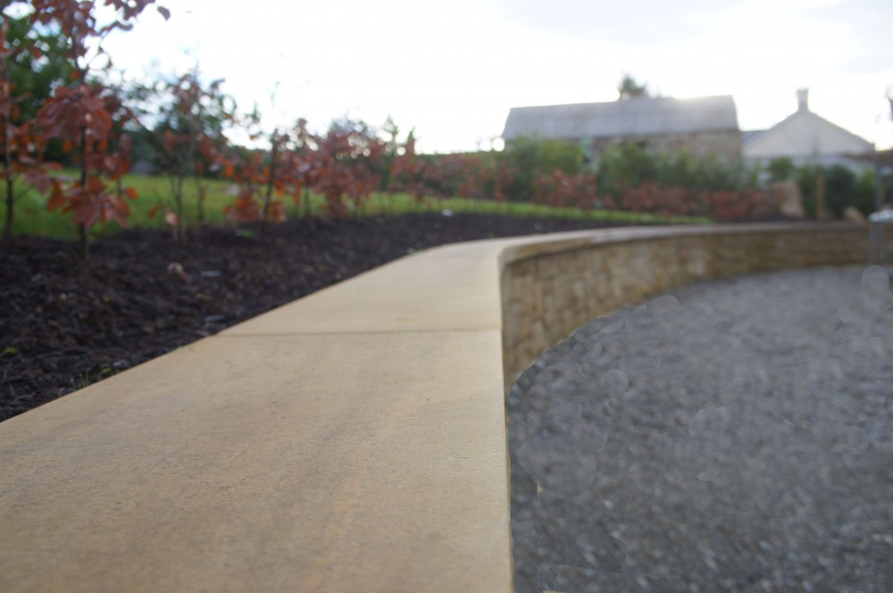 Donegal Sandstone smooth wall copings
