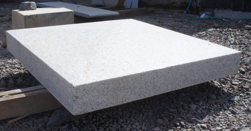 Silver granite pier cap
