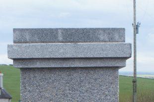 Triple Layered Silver Granite Pier Cap
