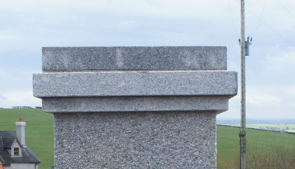 Triple Layered Silver Granite Pier Cap
