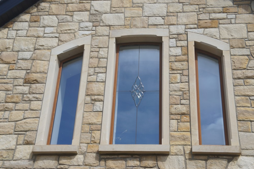 Donegal sandstone surrounds on windows