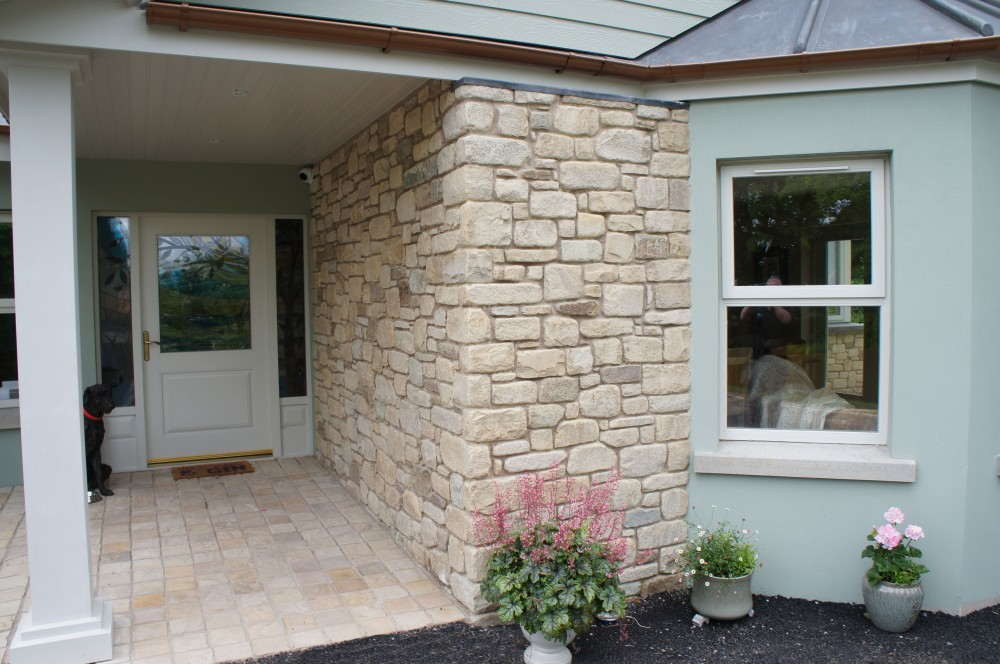 Tumbled Donegal Sandstone with small % of Tipperary Brown Stone