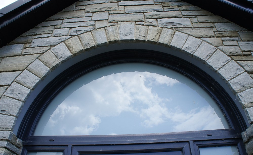 Arch built over a keystone lintel