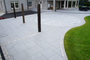 Blue Granite Paving