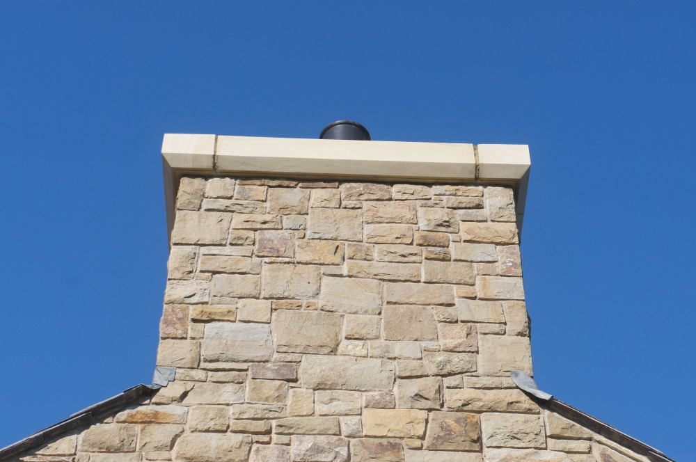Single layer Donegal sandstone chimney coping smooth cut