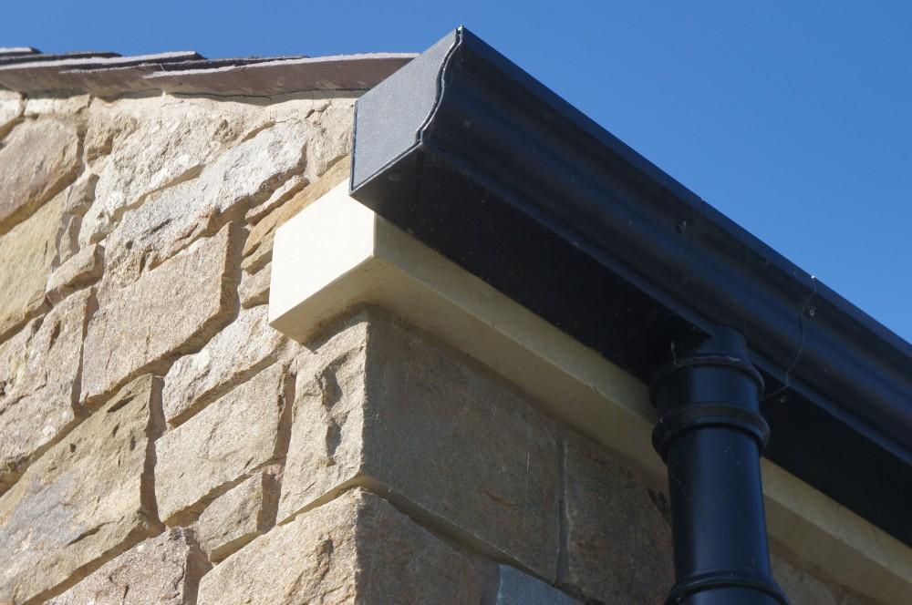 Smooth saw cut Donegal Sandstone soffit blocks