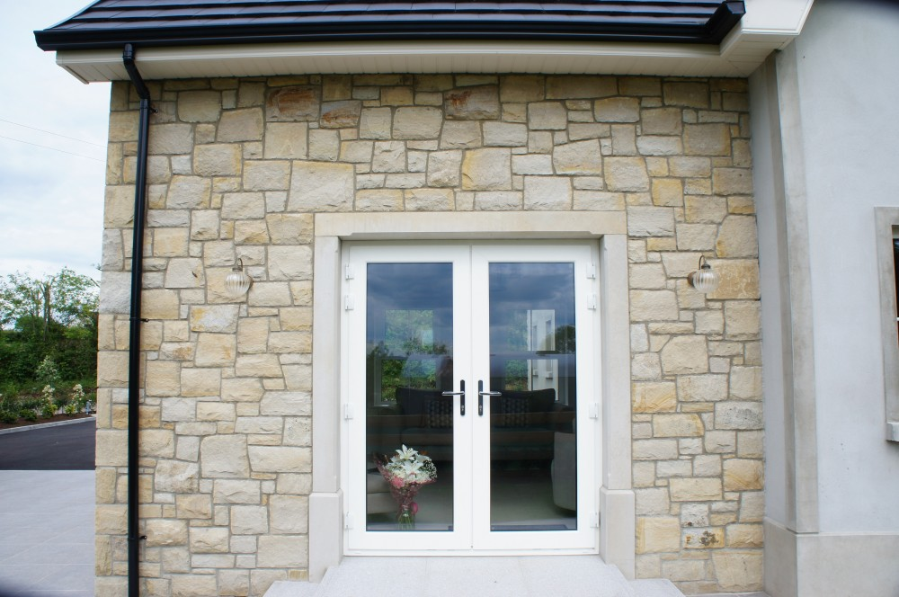 Donegal sandstone surround on patio doors