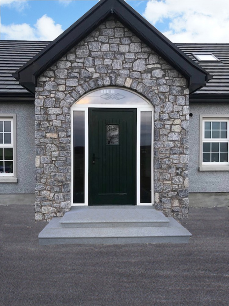 Tumbled White Limestone Cooleclad & Blue Granite Steps
