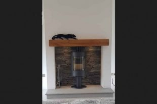 Blue Granite Hearth With Donegal Slate Insert