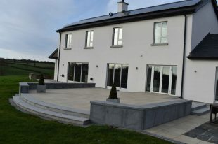 Blue Granite Paving Used To Clad Wall With Blue Granite 60mm Wall Copings