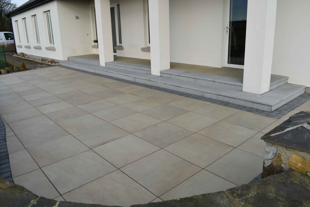 Mint Cream Porcelain Paving